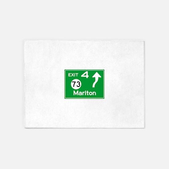 NJTP Logo-free Exit 4 Marlton 5'x7'Area Rug