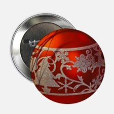 "Red Christmas Ornament 2.25"" Button (10 pack)"