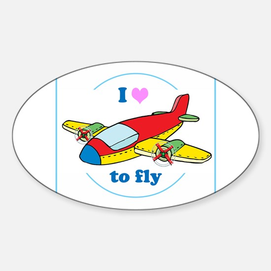 I Heart to Fly Decal