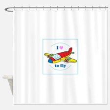 I Heart to Fly Shower Curtain