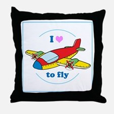 I Heart to Fly Throw Pillow
