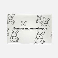 Unique Cartoon bunny Rectangle Magnet