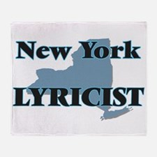 New York Lyricist Throw Blanket