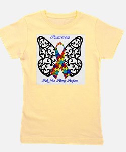 Autism Awareness Butterfly Girl's Tee