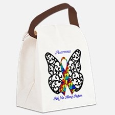 Autism Awareness Butterfly Canvas Lunch Bag