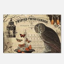 Modern Vintage Halloween Owl Postcards (Package of
