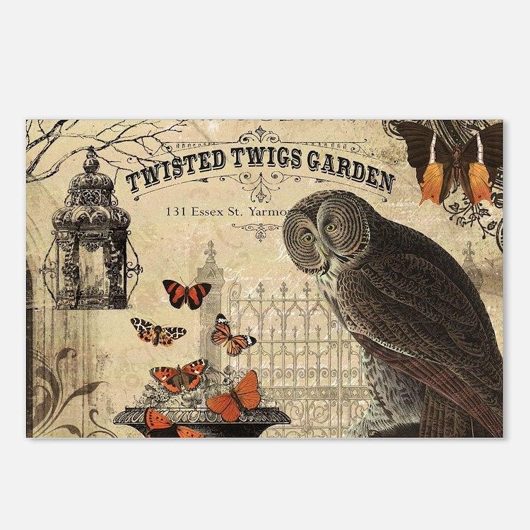 Modern Vintage Halloween Owl Postcards (Package of