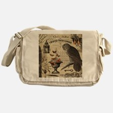 Modern Vintage Halloween Owl Messenger Bag