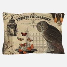Modern Vintage Halloween Owl Pillow Case