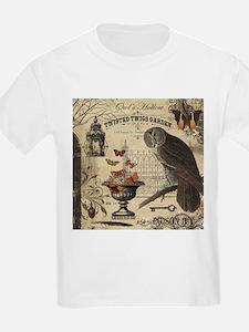 Modern Vintage Halloween Owl T-Shirt