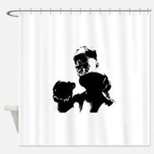 athlete boxing Shower Curtain