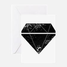 Diamond Grunge Greeting Cards