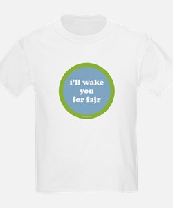 Fajr Kids T-Shirt (light blue + green)