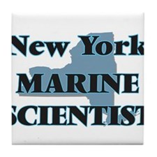 New York Marine Scientist Tile Coaster