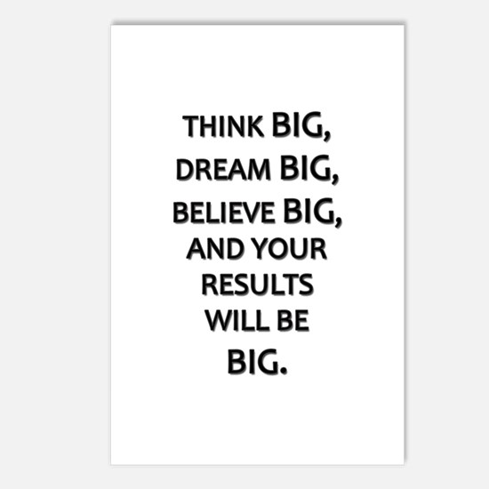 Think Big Dream Big Postcards (Package of 8)