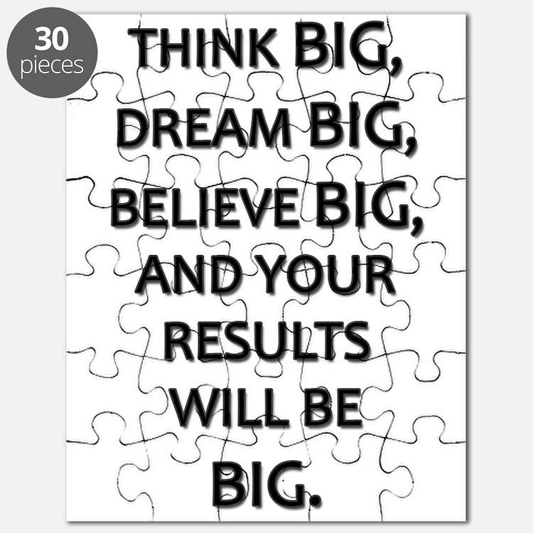 Think Big Dream Big Puzzle