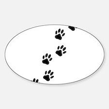Cartoon Dog Paw Track Decal