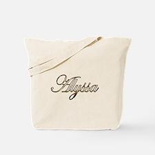 Gold Alyssa Tote Bag