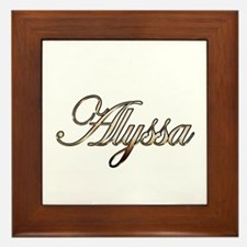 Gold Alyssa Framed Tile