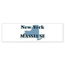 New York Masseuse Bumper Bumper Sticker