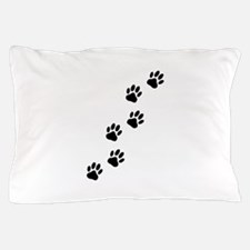 Cartoon Dog Paw Track Pillow Case