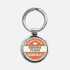 Baritone Player Round Keychain