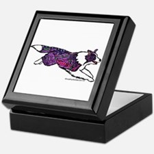 Zentangle Border Collie Keepsake Box