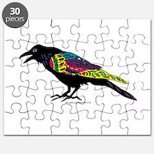 Zentangle Crow Puzzle