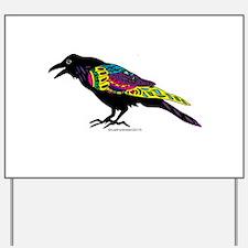 Zentangle Crow Yard Sign