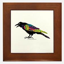Zentangle Crow Framed Tile