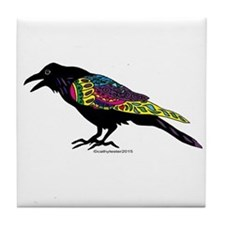 Zentangle Crow Tile Coaster