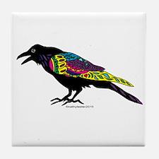 Zentangle Crow Tile Coaster
