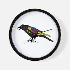 Zentangle Crow Wall Clock