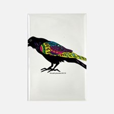 Zentangle Crow Rectangle Magnet (10 pack)