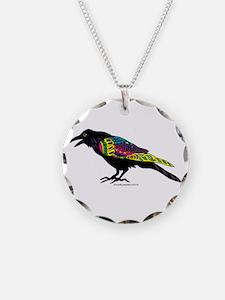 Zentangle Crow Necklace