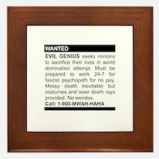 Evil Genius Personal Ad Framed Tile