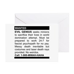Evil Genius Personal Ad Greeting Cards (Pk of 10)