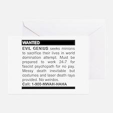 Evil Genius Personal Ad Greeting Cards (Pk of 10)