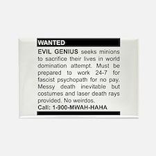 Evil Genius Personal Ad Rectangle Magnet