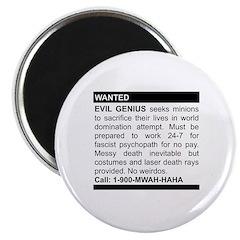 Evil Genius Personal Ad Magnet