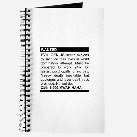 Evil Genius Personal Ad Journal