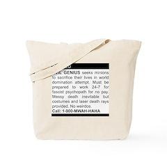 Evil Genius Personal Ad Tote Bag