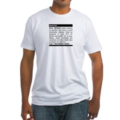 Evil Genius Personal Ad Fitted T-Shirt