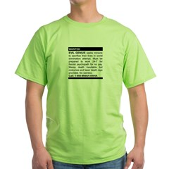 Evil Genius Personal Ad Green T-Shirt