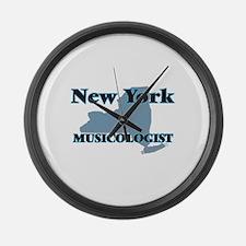 New York Musicologist Large Wall Clock