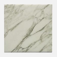 Carrara Marble Design Tile Coaster