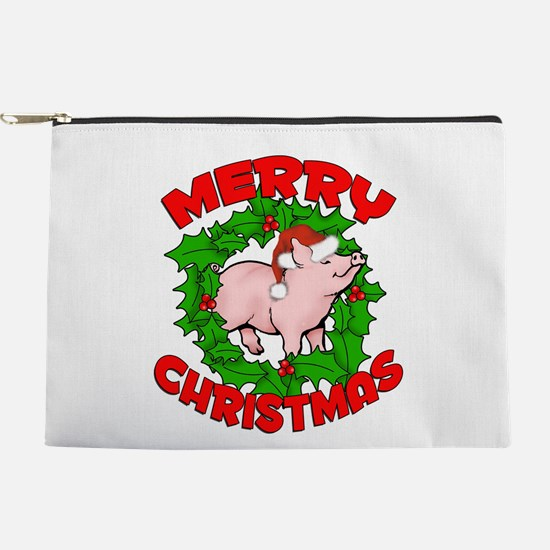 Merry Piggy Christmas Makeup Bag