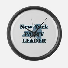 New York Party Leader Large Wall Clock