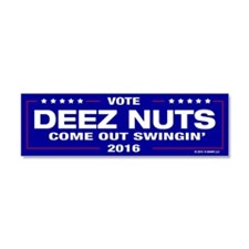 Deez Nuts Come Out Swingin' Car Magnet 10 X 3