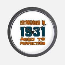 Established In 1931 Wall Clock